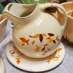 Hall Jewel Tea Pitcher & Plate Perfect!